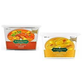 Combo Cà ry đỏ và Cà ry vàng Kanokwan (500g x 2 hộp)