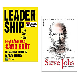 Combo Sách Hay Dành Cho Nhà Lãnh Đạo : Leadership On The Line - Nhà Lãnh Đạo Sáng Suốt + Sinh Ra Để Trở Thành Steve Jobs - (Sách Hay / Bán Chạy / Tặng Kèm Postcard Greenlife )