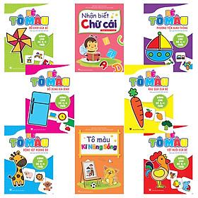 Combo 8 cuốn Tô màu: Bé học IQ (3-4 tuổi)