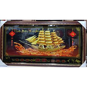 Tranh đèn lịch vạn niên -Thuận buồm xuôi gió ( Thuyền Buồm Ra Khơi)-DH009