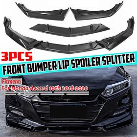 Carbon Fiber Look Front Bumper Lip Splitter Spoiler For Honda Accord 10th 2018-2020