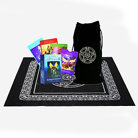 Combo Bộ Bài Bói Tarot Angel Tarot Oracle 78 Card Cao Cấp  và Túi Nhung Đựng Tarot và Khăn Trải Bàn Tarot