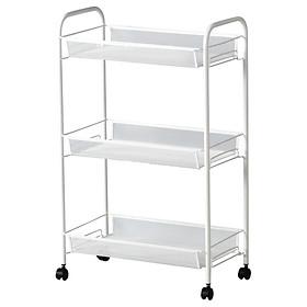 Xe đẩy màu trắng 26x48x77 cm HORNAVAN Trolley white IKEA