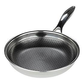 Chảo rán đáy từ chống dính 3 lớp đúc liền Kims Cook Blackcube siêu bền , cào không xước , tặng 10 muỗng ăn