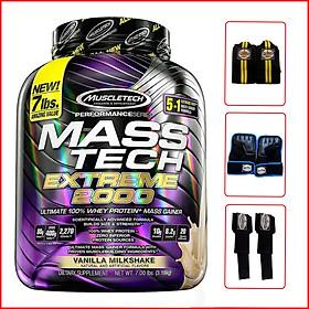Sữa tăng cân tăng cơ Mass Tech Extreme 2000 7lbs (3,18kg) - Vanilla - Hỗ trợ tăng cân, tăng sức mạnh, phát triển cơ bắp dành cho người tập thể hình và thể thao - Hàng chính hãng Muscletech USA
