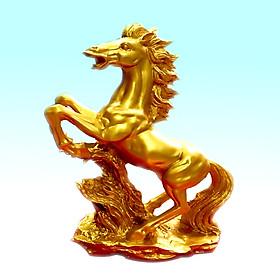 Tượng Ngựa Vàng Phong Thủy Mã Đáo Thành Công Trang Trí Bàn Làm Việc Chất Liệu Nhựa Composite  TPT073