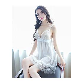 Váy ngủ sexy ren trắng - MC