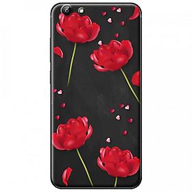 Hình đại diện sản phẩm Ốp lưng dành cho Vivo Y53 mẫu Hoa đỏ đen