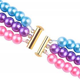 6Pcs 2/3/4 Multi Strands Slide Lock Tube Clasp with Loop Rings DIY Jewelry