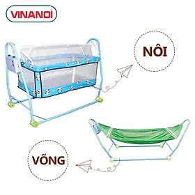 Combo Nôi võng tự động Vinanoi NV20 khung thép sức đưa 20kg và Địu em bé
