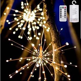 Combo 4 đèn pháo hoa trang trí  Chống Nước, Điều Khiển Từ Xa, 8 chế độ nháy trang trí nhà , sự kiện - Firework