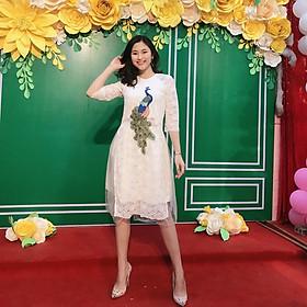 Áo dài cách tân nữ kèm váy HB01