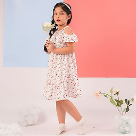 Váy đầm cho bé gái cao cấp Econice V014. Size 5, 6, 7, 8, 10 tuổi mặc mùa hè