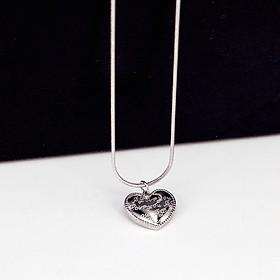 Dây chuyền inox trái tim khắc chữ I Love You ý nghĩa