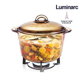 Nồi thủy tinh 5L Luminarc Amberline Granite (Bảo hành 10 năm)