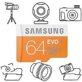 Thẻ Nhớ Micro SD Samsung Evo Plus 64GB Class 10 - 100MB/s (Kèm Adapter) - Hàng Chính Hãng