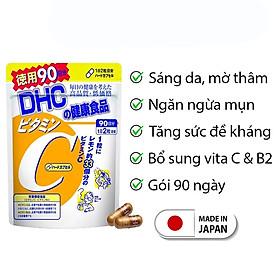 Viên uống Vitamin C DHC Nhật Bản giúp sáng da mờ thâm thực phẩm chức năng giúp tăng cường sức đề kháng JN-DHC-C