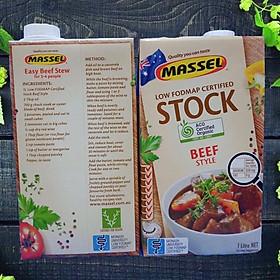 Nước Dùng Gia Vị Bò Massel Organic Stock Chicken Style - Nước Dashi Rau Củ Từ Nguyên Liệu Hữu Cơ, Không Bột Ngọt - Hộp 1 lít - Thích hợp ăn chay, ăn mặn, bé ăn dặm