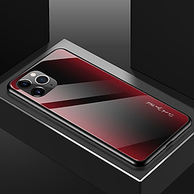 Ốp Lưng Mặt Kính Gradient Vân Carbon Cho iPhone 11 Pro Max / iPhone 11 Pro / iPhone 11