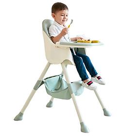 Ghế ăn dặm 2  nấc điều chỉnh, mặt bàn và đệm ghế có thể tháo rời, có đai an  toàn cho bé