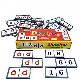 Bộ Thẻ Flashcards Cho Bé Domino Chữ Cái Và Số Giúp Bé Rèn Luyện Tư Duy Logic BENRIKIDS-DMN