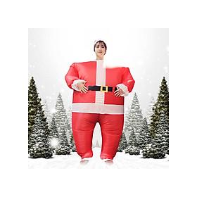 Bộ quần áo ông già noel bơm hơi khổng lồ - Trang phục Giáng sinh