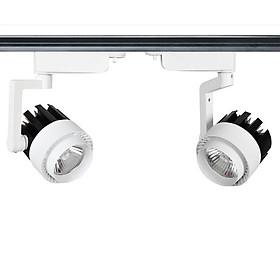 Combo 2 đèn rọi ray 20W + 1 thanh ray 0.5 mét
