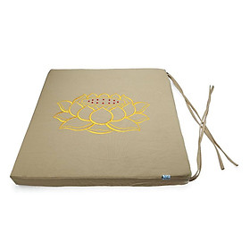 Nệm Ngồi Thiền Soft Decor 40035 Silence Canvas Square Seat Pad (40 x 40 x 3.5 cm) - Beige
