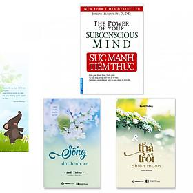 Combo 3 cuốn: Sức Mạnh Tiềm Thức, Thả Trôi Phiền Muộn, Sống Đời Bình An + Bookmark danh ngôn hình voi
