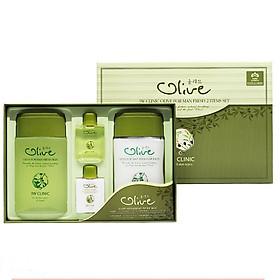 Combo Bộ 2 sản phẩm dưỡng trắng da nam tinh chất dầu Olive 3W CLINIC Hàn Quốc