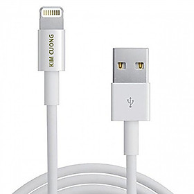 Cáp sạc Lightning KIMCUONG 1m cho Apple Iphone Ipad - Hàng nhập khẩu chính hãng