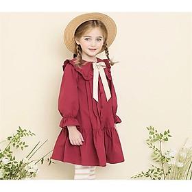 Đầm màu đỏ cao cấp cho bé gái 3 đến 12 tuổi