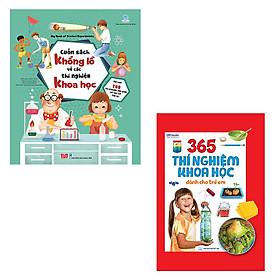 Bộ 2 cuốn sách thú vị giúp bé khám phá khoa học: 365 thí nghiệm khoa học dành cho trẻ em - Cuốn sách khổng lồ về các thí nghiệm khoa học