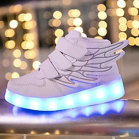 Giày phát sáng cánh thiên thần cho bé trai bé gái 2 - 12 tuổi GE75 dáng snearker cá tính da mềm sạc USB thông minh
