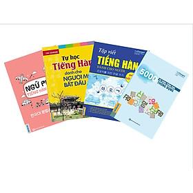 Combo 4 Cuốn Sách: Tự Học Tiếng Hàn Cho Người Mới Bắt Đầu, Ngữ Pháp Tiếng Hàn Bỏ Túi, 5000 Từ Vựng Tiếng Hàn Theo Chủ Đề Và Tập Viết Tiếng Hàn Cho Người Mới Bắt Đầu (Tặng kèm bút chì Kingbooks)