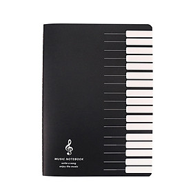 18 Sheets Music Practice Notebook Piano Violin Book Universal Five-line Notebook Random Pattern