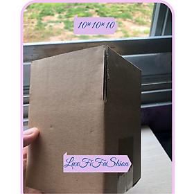 combo 50 thùng carton 3 lớp size 10*10*10- thùng trơn không logo