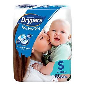 Tã Dán Drypers Wee Wee Dry Gói Đại S58 (58 Miếng)