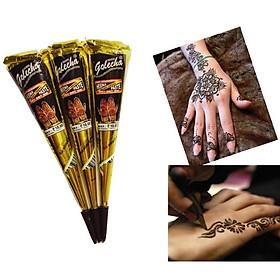Kem xăm Henna - Kem Xăm Tạm thời, Khuân Xăm tạm thời tattoo, Khuân tháp ép phen, nơ, xương cá, sừng hươu, bút lông chim