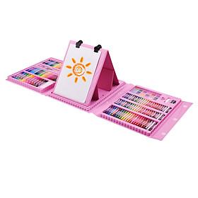 Bộ 176 bút chì màu vẽ tranh nghệ thuật với hai mặt gấp sang trọng