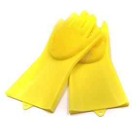 2 găng tay rửa chén thần kỳ- Găng tay silicon tạo bọt- Găng tay tạo bọt 1 đôi (Màu ngẫu nhiên)