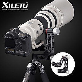 XILETU XGH-3 Panoramic Gimbal Tripod Head Aluminum Alloy Material with QR Plate 1/4 Inch & 3/8 Inch Screw Interface for