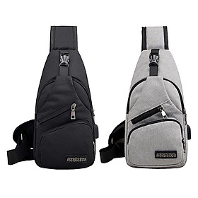 2x Fashion Men Sling Bag Chest Pack Anti Theft Casual Lightweight Cross Body Bag