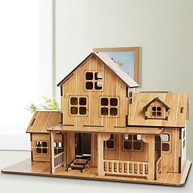 Đồ chơi lắp ráp gỗ 3D Mô hình Nhà gỗ Warm House