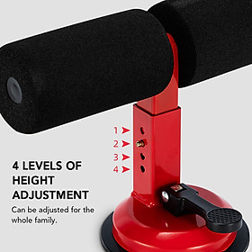 Portable Suction Sit Up Bar Push Up Trainer Muscle Training Equipment with 4 Adjustable Heights-2
