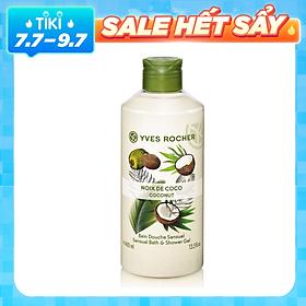 Gel Tắm Yves Rocher Coconut Sensual Bath And Shower Gel 400ml
