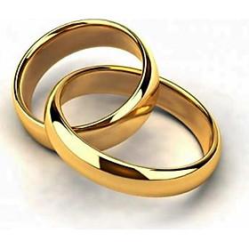 Nhẫn cưới nam 5 chỉ khắc 9999 mạ vàng 24k ( Thái Lan )