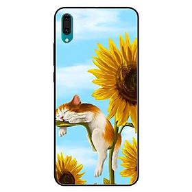 Ốp lưng in cho Huawei Y7 Pro 2019  Mẫu Mèo Ngủ