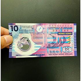 Tờ 10 Dollar Hồng Kông bằng polyme , Tờ tiền đẹp nhật thế giới [TIỀN SƯU TẦM] - tặng bao lì xì - The Merrick Mint
