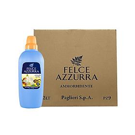 Thùng nước xả vải hương nước hoa Ý siêu thơm lâu hổ phách và vanilla Felce Azzurra 2L x 9